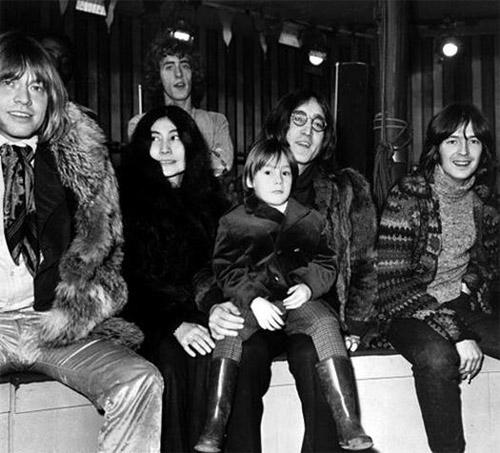 Brian-Jones-Yoko-Ono-Roger-Daltrey-Julian-Lennon-John-Lennon-and-Eric-Clapton