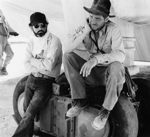 Steven-Spielberg-and-Harrison-Ford-on-the-set-of-Raiders-of-the-Lost-Ark