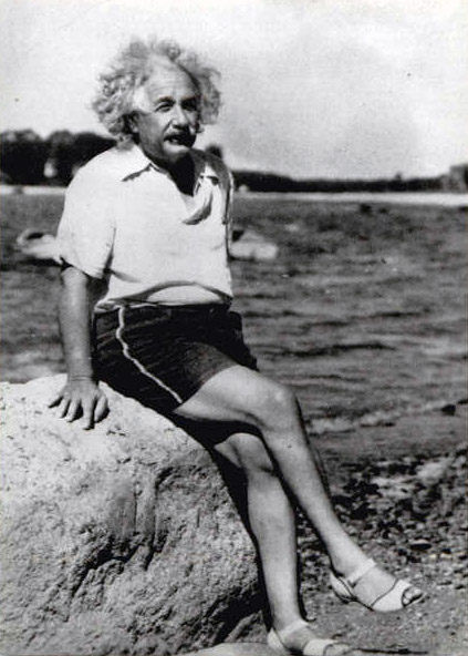 Albert-Einstein-at-beach-1945