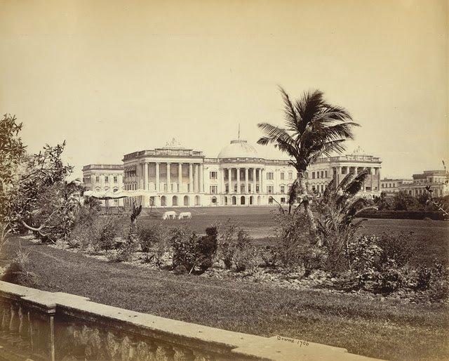 Government-House-from-the-Garden-Calcutta-Kolkata-1865