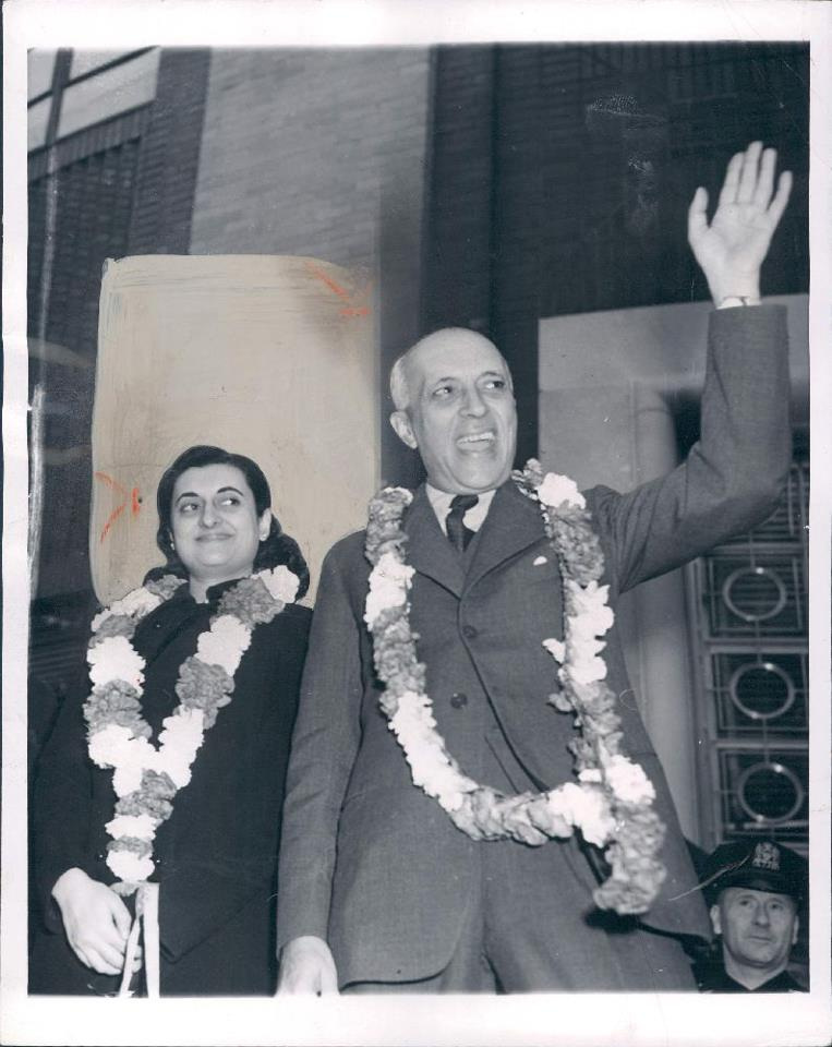 Indian-Prime-Minister-Jawaharlal-Nehru-and-his-Daughter-Mrs-Indira-Gandhi-1956