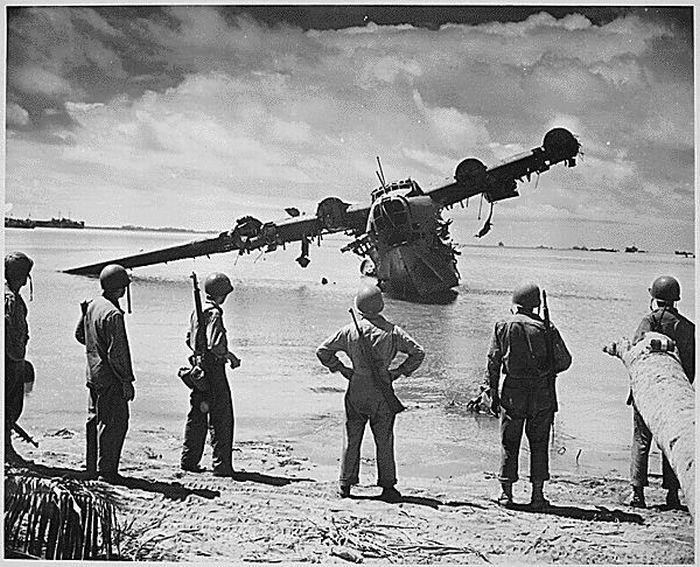 kawanishi-h8k0-seaplane-Squad-of-Rufe's-at-Bougainville