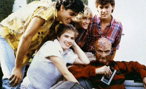 Nick-Corri-Amanda-Wyss-Johnny-Depp-Heather-Langenkamp-and-Robert-Englund-on-the-set-of-A-Nightmare-on-Elm-Street