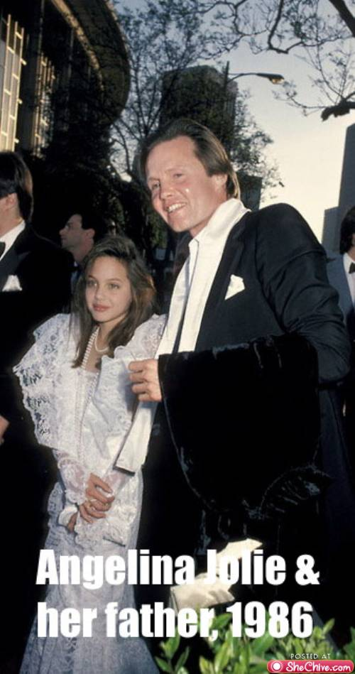 Angelina jolie in his early childhood