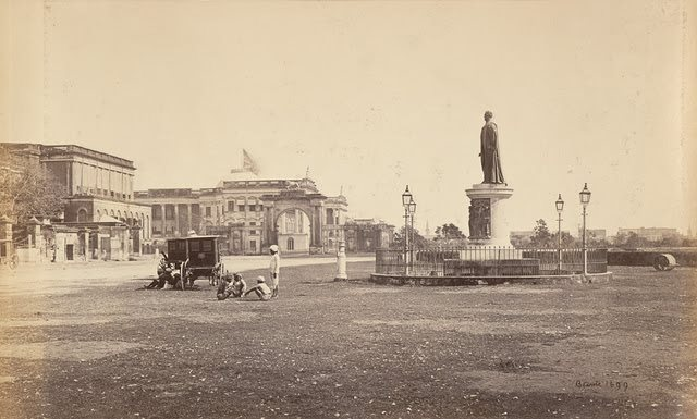 The-Bentinck-Statue-and-Government-House-Calcutta-Kolkata-1860s