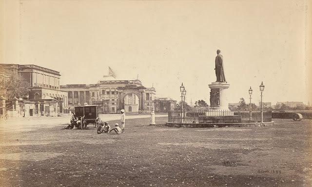 The-Bentinck-Statue-and-Government-House-Calcutta-Kolkata-1860s