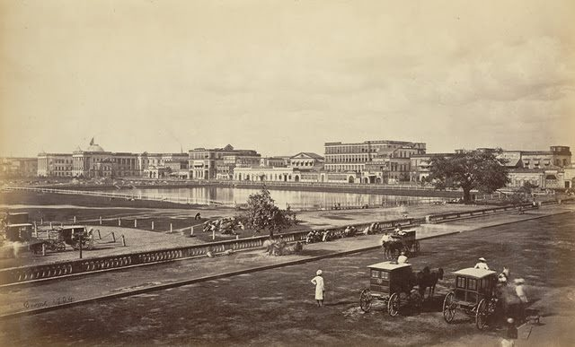 The-Esplanade-and-Government-House-from-Chowringhee-Calcutta-Kolkata-1865