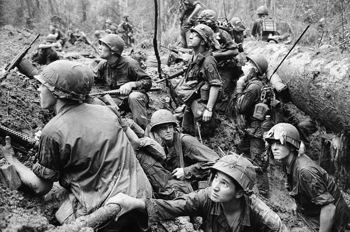 soldier-try-to-defense-in-a-trench-in-vietnam-war