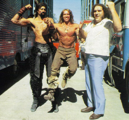Wilt-Chamberlain-Arnold-Schwarzenegger-and-Andre-the-Giant