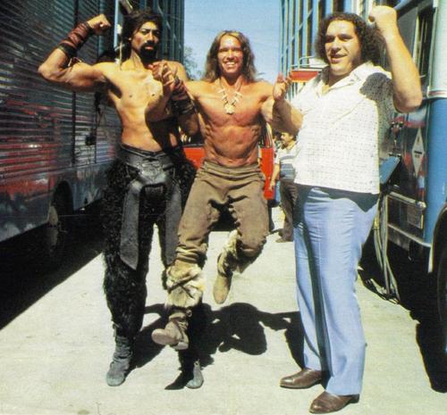 Wilt-Chamberlain-Arnold-Schwarzenegger-and-Andre-the-Giant
