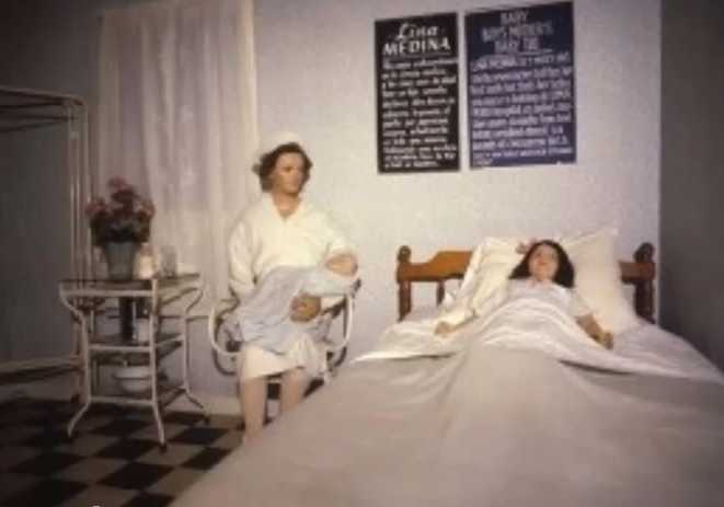 lina-medina-in-hospital-very-rare-MadaMe-TussaUds-Museum