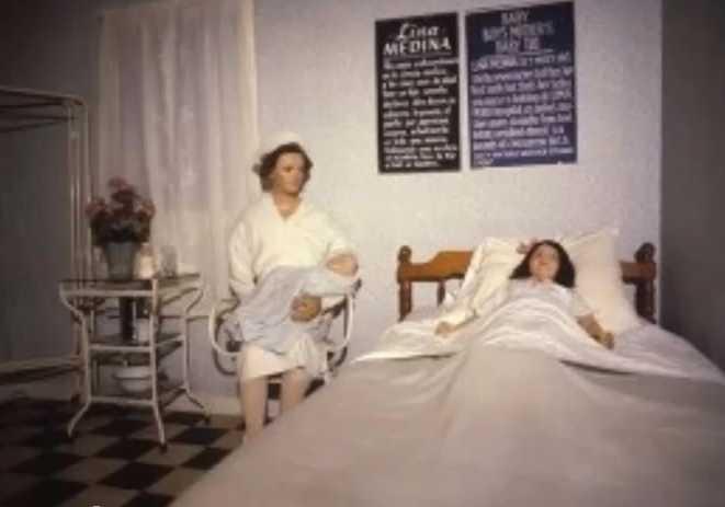 lina-medina-in-hospital-very-rare-MadaMe-TussaUds-Museum