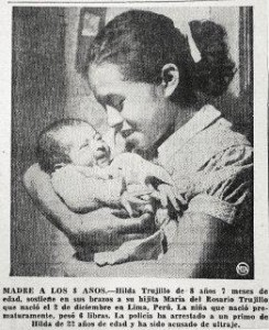 lina medina with her cute infant