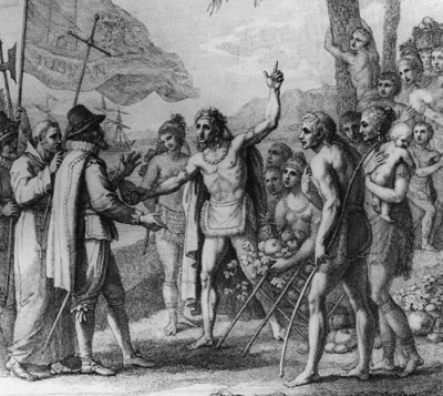 Christopher-Columbus-with-native