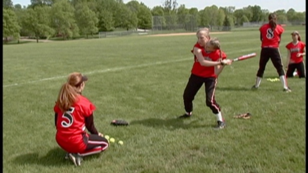 abby-brittany-playing-baseball
