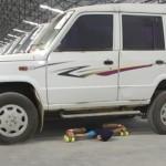 Shreeya Rakesh Deshpande-limbo-skating-under-car