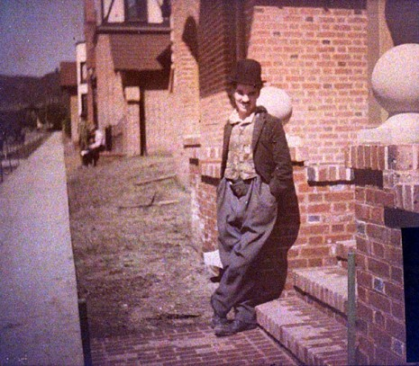 Charlie-Chaplin-colour-photos-outside-his-studio