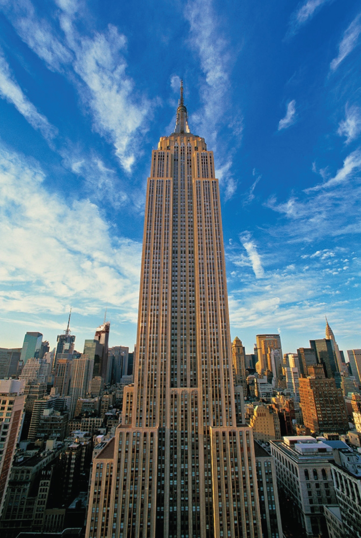 Empire-State-Building-under-blue-sky-New-York