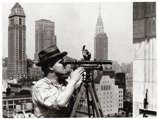 an-engineer-taking-measurement--Empire-State-Building