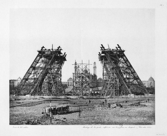 eiffel-tower-construction-at-very-begining-stage
