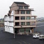 China Nail House In Mid Highway – A symbol Of Resistance
