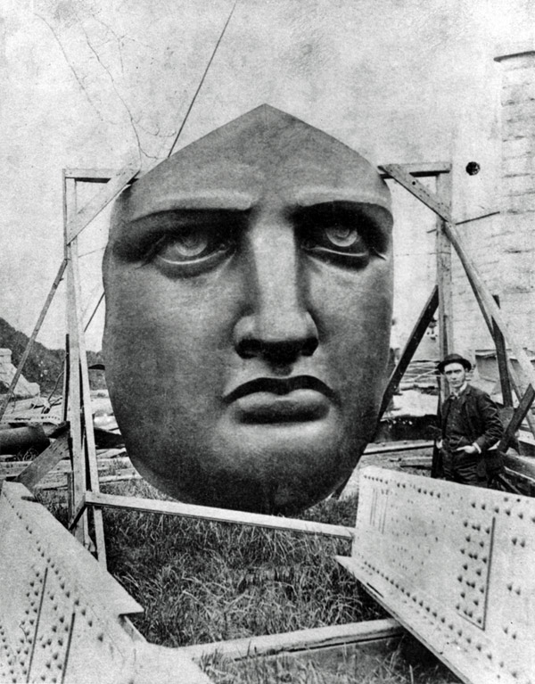 Face-of-statue-of-liberty-constructed-in-1875