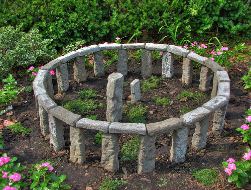 mini-version-of-stonehenge-in-garden