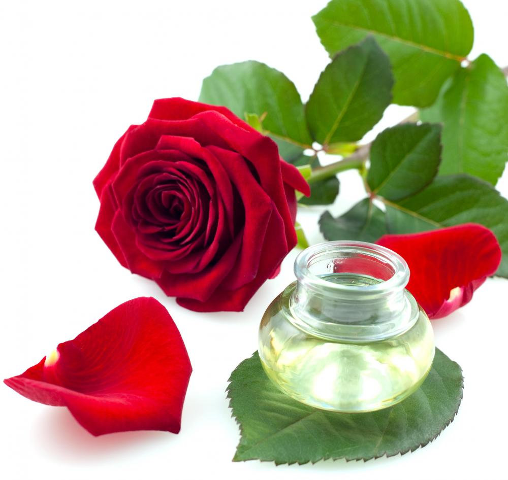 Rose flower with rose water which is very popular for facial izmirmasajfo