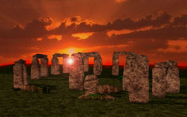 stonehenge-during-sunset-it-have-relationship-with-lunar-cycle