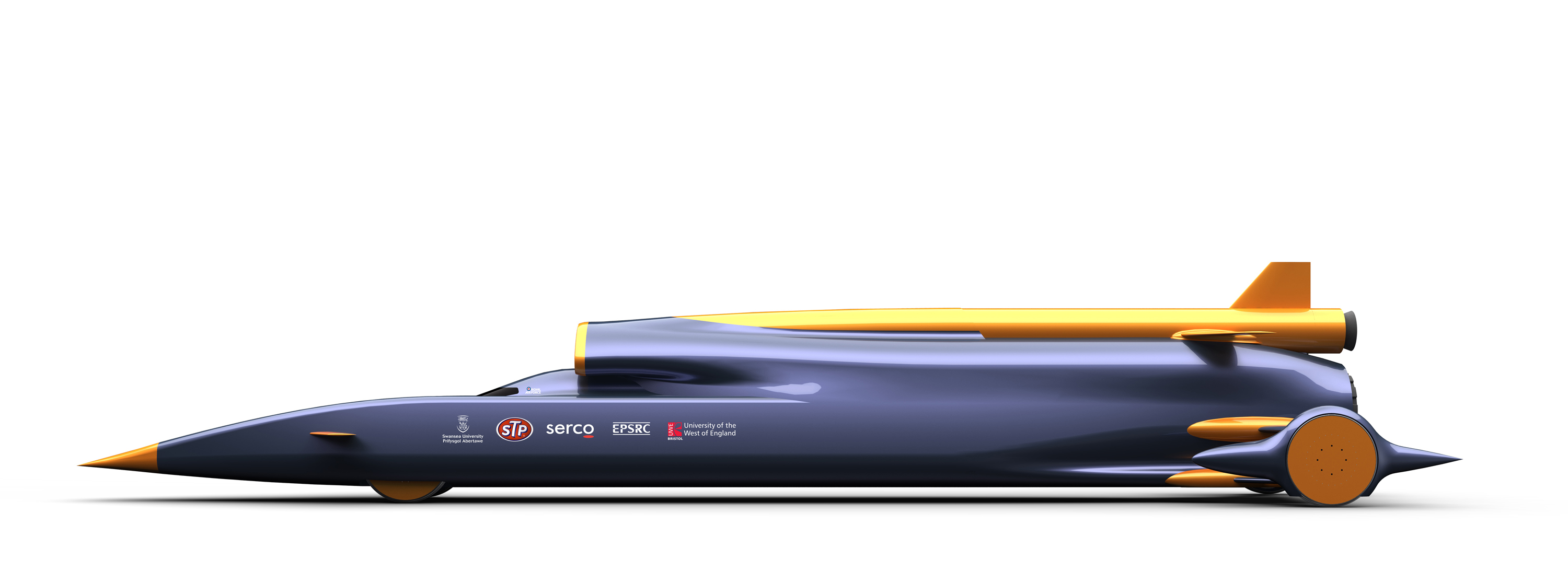 Bloodhound-SSC-pencil-shaped-car-powered-by-jet-engine