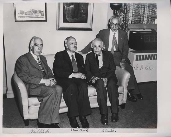 Albert Einstein-with-other-scientists