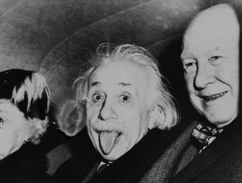 albert-einstein-toungue-out-photos-in-his-birthday-with-reporter-Howard-K-Smith