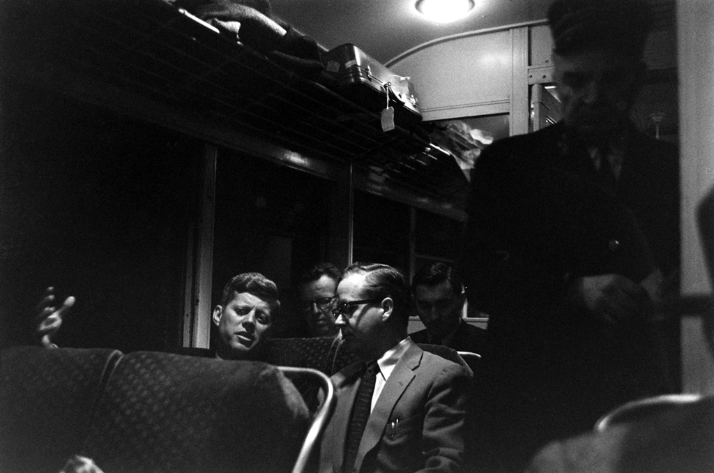 train-Wisconsin-1959-JFK-speaks-with-Arthur-M-Schlesinger