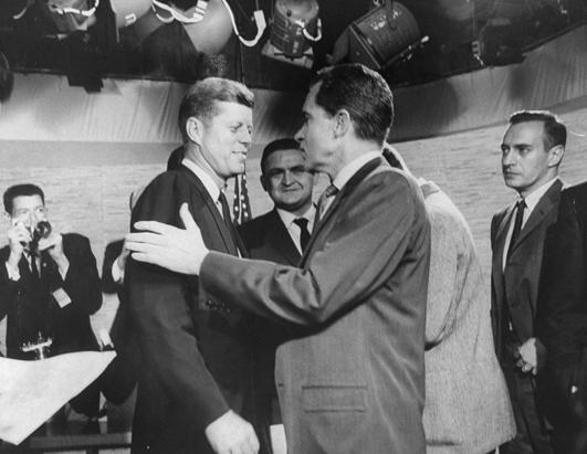 Young-JFK-with-his-opponents-presidential-candidates