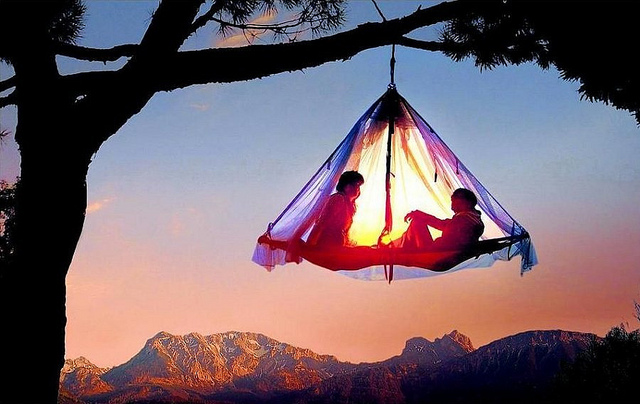 Tree-Camping-in-Elk-California-sunrise-looks-awesome-feel-like-a-bird