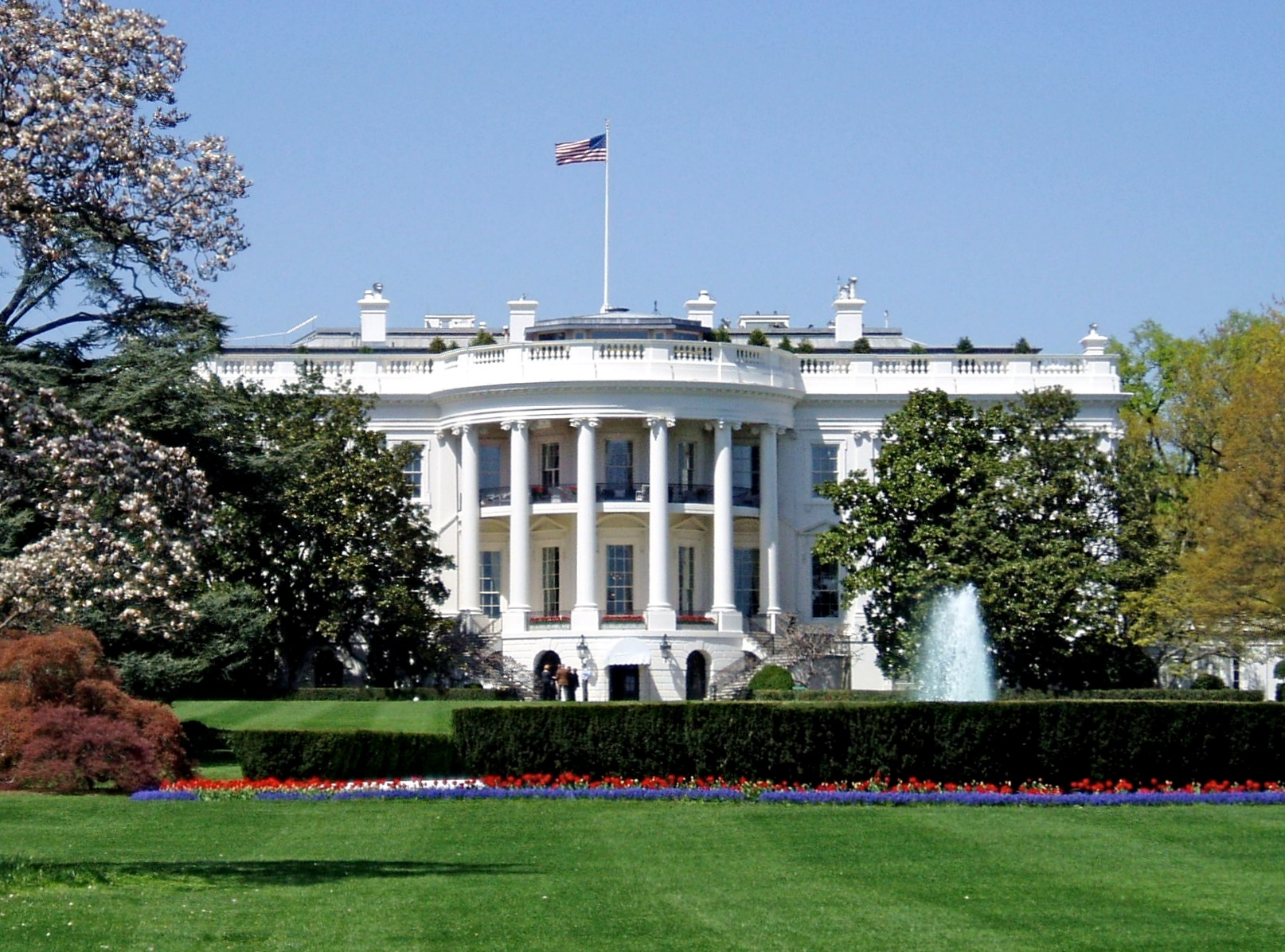 White-House-in-a-sunny-day