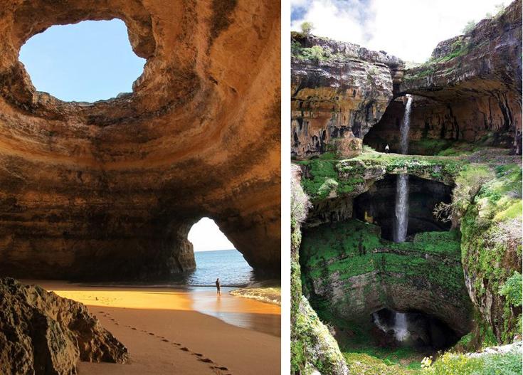 Sea-Caves-Baatara-Pothole-Waterfall