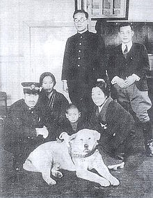 hachiko-with-his-master