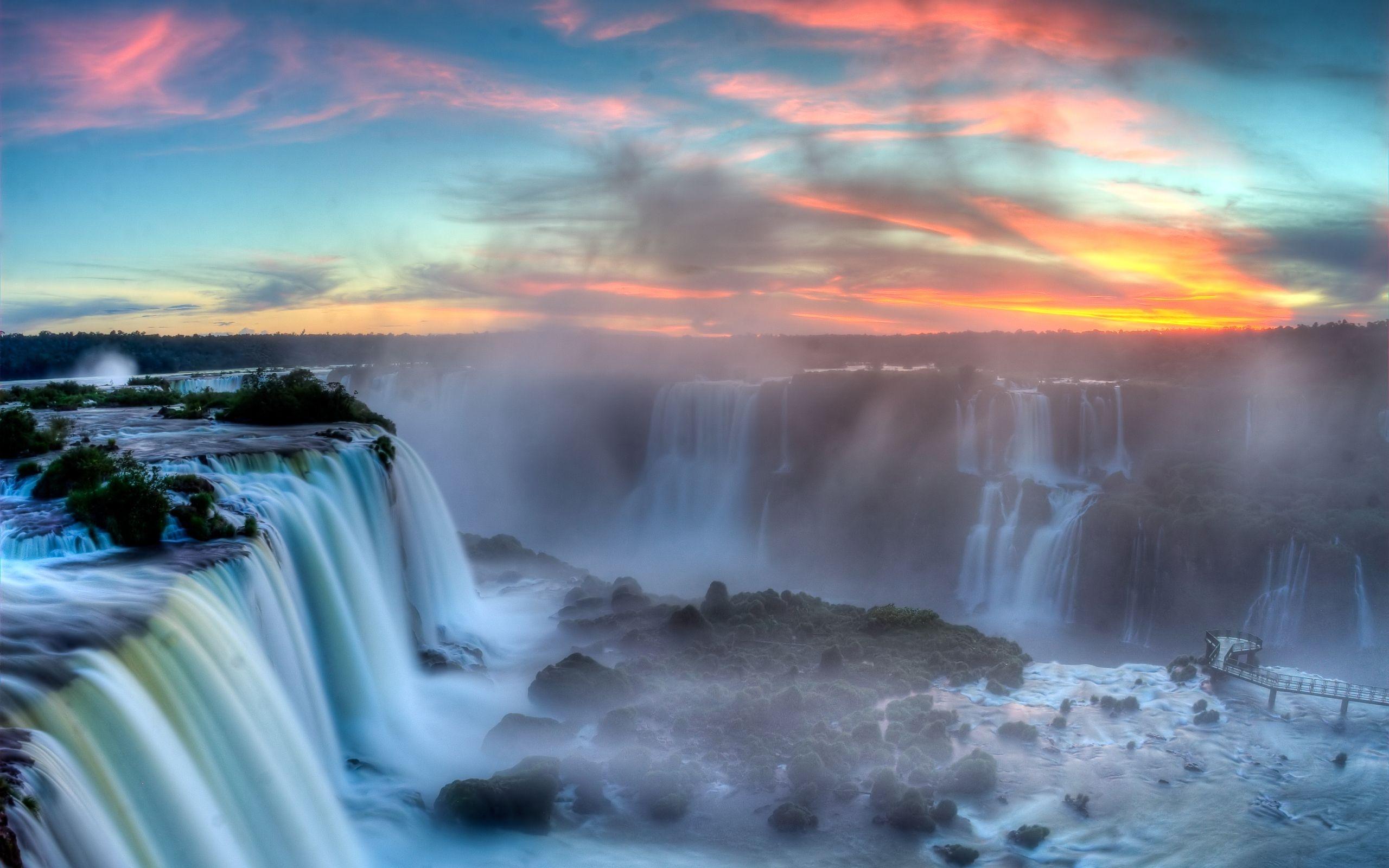 iguazu-falls-sunset