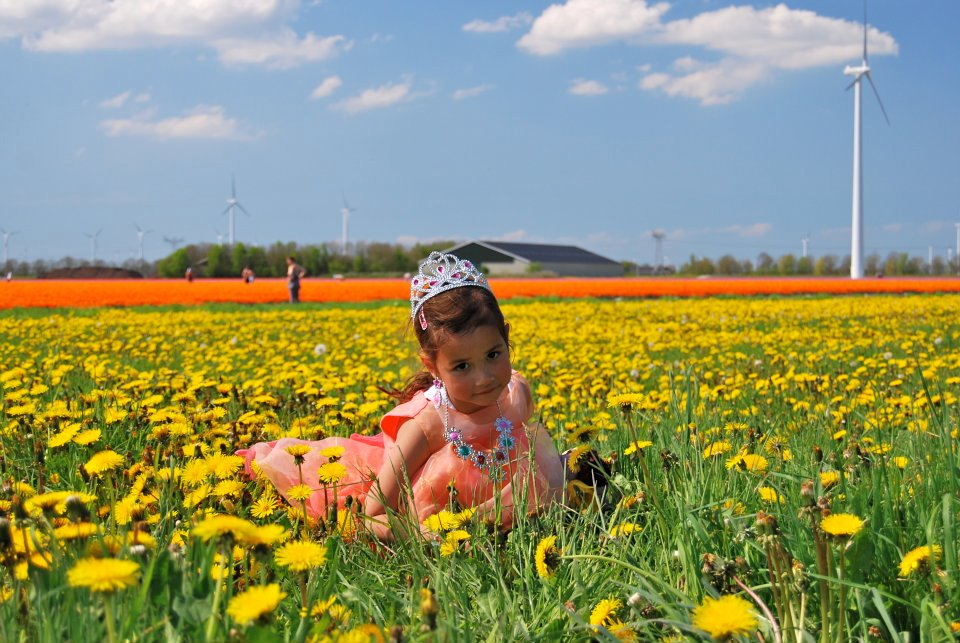 dutch-girl-in-flower-field