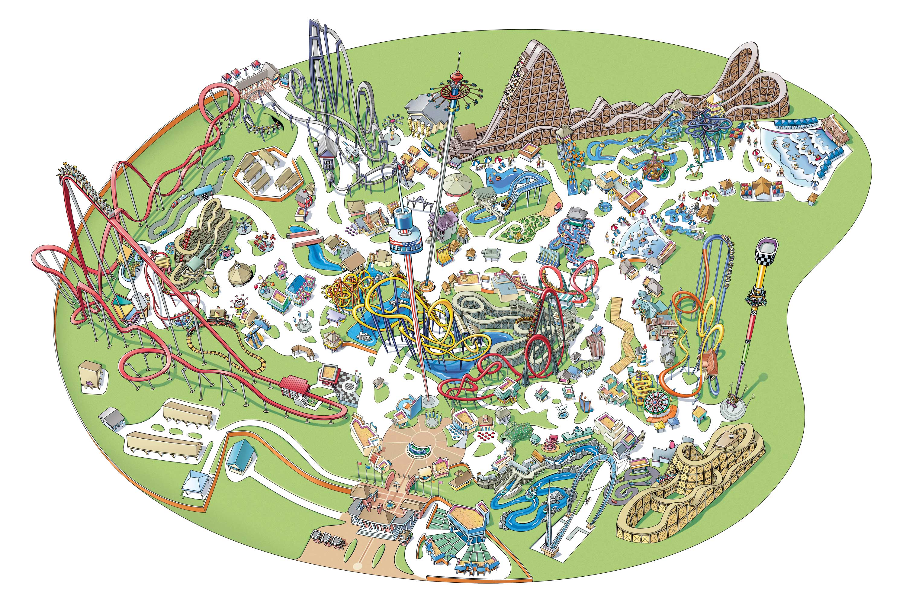 Carowinds-maps