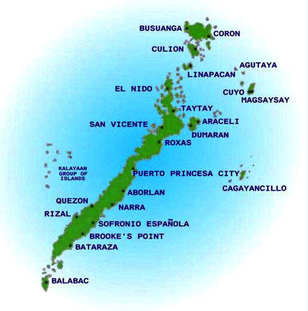 palawan island map