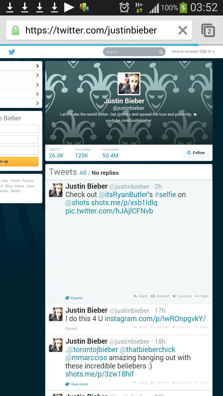 Justin-bieber-twitter-account