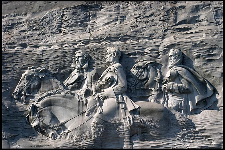 Stone mountain carving high resolution