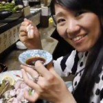 A-Japanese-woman-eating-live-frog