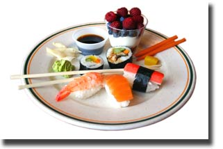 Sushi-served-in-a-restaurant