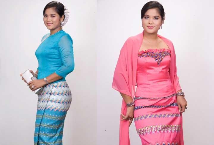 Myanmar-traditional-dress-fashion