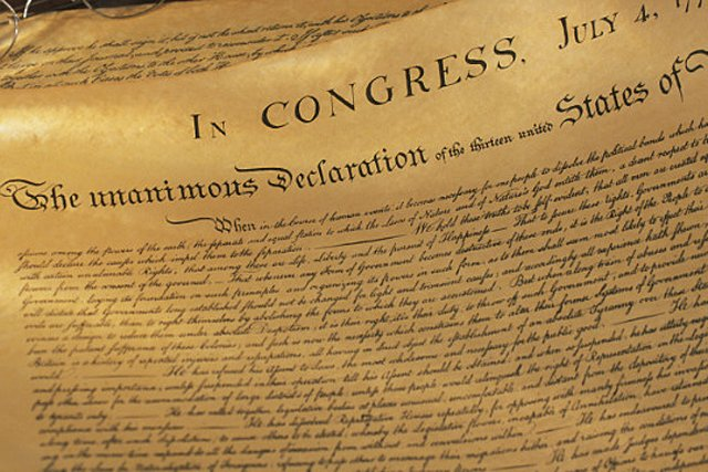 In the 19th century the declaration of Independence was written on hemp paper