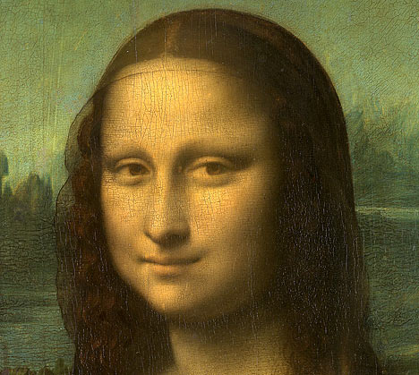 The Mona Lisa has no eyebrows