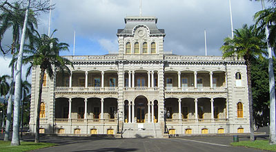 The Royal palace of united states in Honolulu
